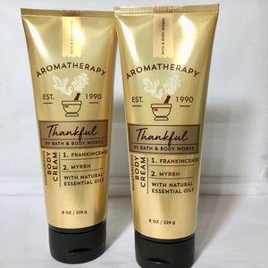 2 Aromatherapy FRANKINCENSE MYRRH Body Cream
